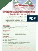 Conferenza Programmatica  circolo PD Monteleone Orvieto