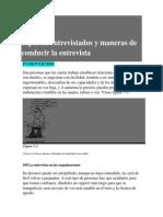Tipos de Entrevistado y Maneras de Conducir La Entrevista. (Pp. 107-110