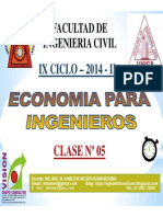 Clase 05 ECONOMIA PARA ING 2014 II.pdf