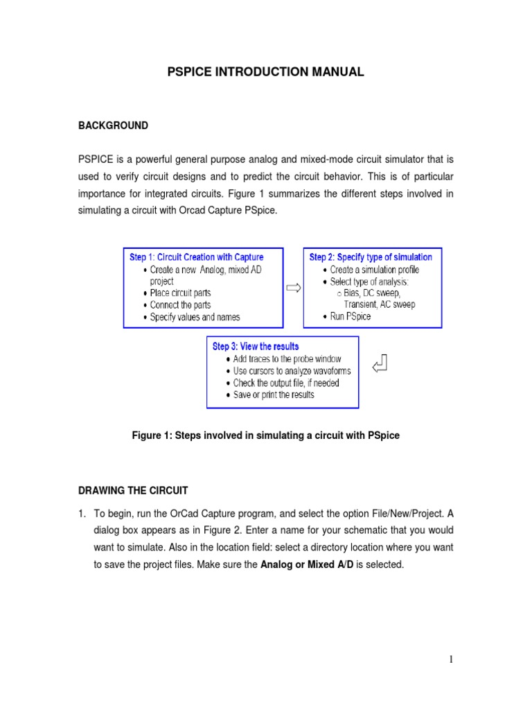 Pspice introduction manual electrical engineering electronics biocorpaavc Choice Image