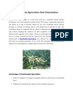 Sustainable Agriculture And Urbanization
