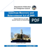 ED-OIG Tennessee Recovery Act Audit Internal Controls over Selected Funds - a04j0010