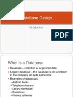 1Database Design Introduction