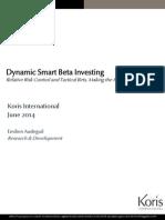 Dynamic Smart Beta Investing