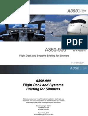 Flight Factor A350 manual   Computer Keyboard   Cockpit