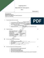 Class 6 ICSE Biology Sample Paper Set I