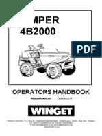 4b2000 Parts & Operators Handbook