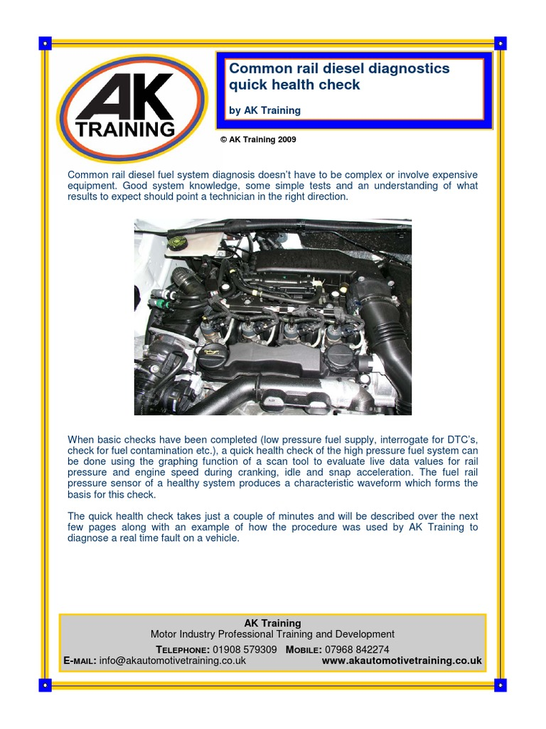 Commonrail Diesel AK Training | Diesel Engine | Fuel Injection