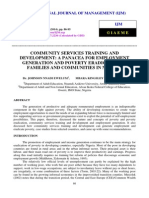 COMMUNITY SERVICES TRAINING AND DEVELOPMENT A PANACEA FOR EMPLOYMENT GENERATION AND POVERTY ERADICATION IN FAMILIES.pdf
