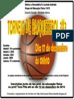 Cartaz Torneio de basquetebol 3x3 17 Dez