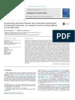 2014_Vasudev & Fletcher_gibbon Conservation_Biological Conservation