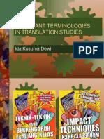 Meeting 2 Terminologies in Translation Studies