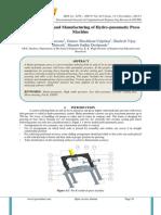 Design, Analysis and Manufacturing of Hydro-pneumatic Press Machine