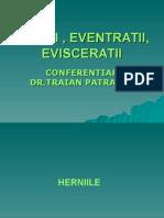 HERNII , EVENTRATII , EVISCERATII