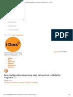 Interactive Documentary and Education_ a Field to Explore (I) - I-Docs