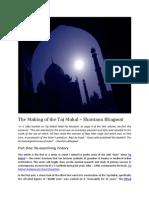 The Making of the Taj Mahal - Shantanu Bhagwat
