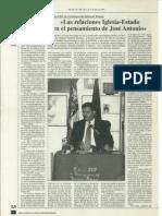 Las relaciones Iglesia-Estado en el pensamiento de José Antonio. José María Permuy