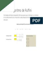 Algoritmo de Ruffini