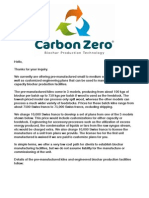 Carbon Zero Bio Char Production Technology