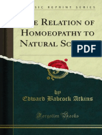 Atkins, E.B. - The Relation of Homoeopathy to Natural Science