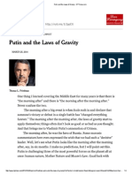 Putin and the Laws of Gravity - NYTimes