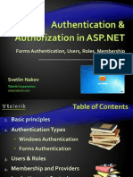 12. ASP.net Authentication and Authorization