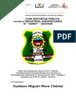 Plan de Capacitación 2014 Gustavo