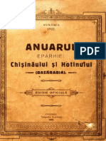 Anuarul Eparhiei Chisinaului Si Hotinului (Basarabia).