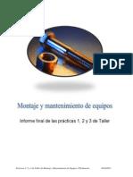 Informe Final de Las Practicas 1, 2 y 3 Del Taller