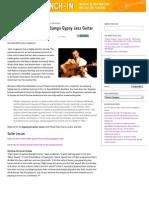Demystifying the Art of Django Gypsy Jazz Guitar