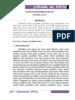6. Dzakir. Ontologi Pendidikan Islam.