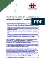 Propuestas del Sector de la Discapacidad al Gobierno de España