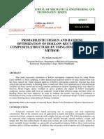 Probabilistic Design and Random Optimization of Hollow Rectangular Composite Structure by Using Finite Element Method