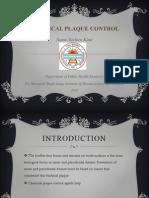 Chemical Plaque Control