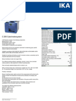Data Sheet c 200 Calorimetersystem