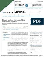 29-11-14 Plantean senadores reformar ley federal contra crimen organizado | El Economista
