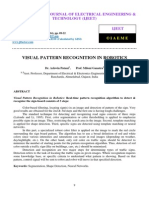 Visual Pattern Recognition in Robotics