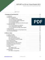 Indice de Libro ASP.net en C# Con Visual Studio 2013