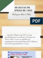 Ang Batas Ng Pilipinas Ng 1902