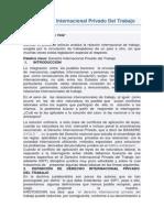 El Derecho Internacional Privado Del Trabajo