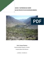 Sustentabilidad de Proyectos Mineros