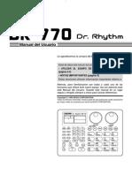 manual DR-770 en español