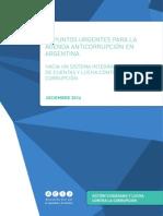 10 Puntos urgentes para la agenda anticorrupción en Argentina