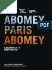 Catalogue Abomey Paris Abomey
