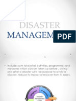 Disaster mgmnt