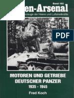 Waffen Arsenal 182 Motoren Und Getriebe Deutscher Panzer 1935-45