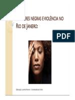 _Mulheres Negras e Violência No RJ