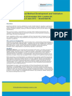 Hplc Analytical Method Development Validation