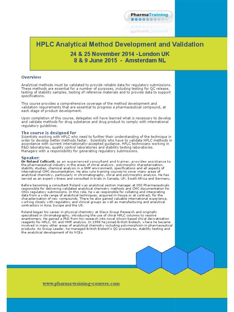Hplc Analytical Method Development Validation   High Performance