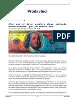 Luis Vicente León - El Precio Del Dólar o El Cielo Es El Límite